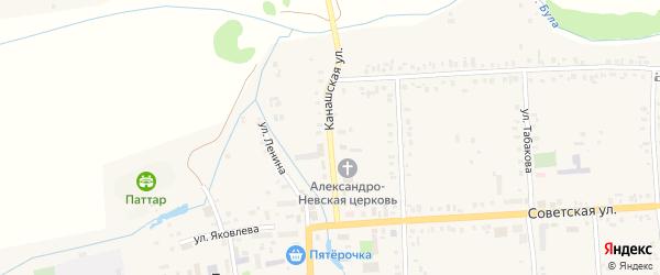 Канашская улица на карте села Батырево с номерами домов