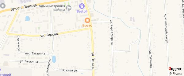 Улица Ленина на карте села Батырево с номерами домов