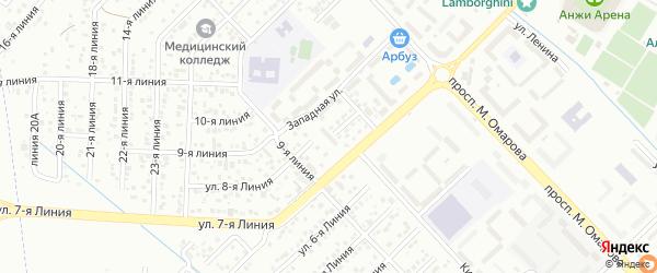 Улица Линия 1 на карте микрорайона Кемпинга с номерами домов