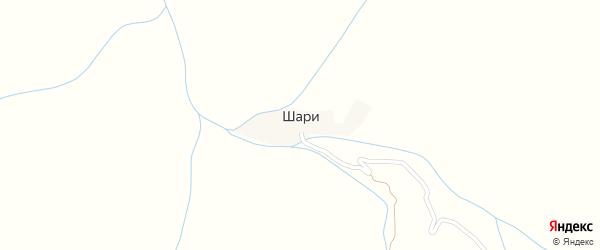 Шаринская улица на карте села Шари с номерами домов