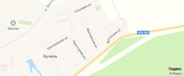 Московская улица на карте деревни Хучели с номерами домов