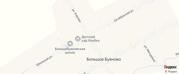 Улица Кирова на карте деревни Большое Буяново с номерами домов