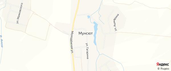 Карта деревни Мунсюта в Чувашии с улицами и номерами домов