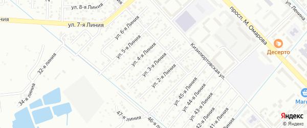 3-я линия на карте Надежды СНТ с номерами домов