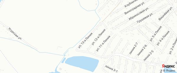 13-я линия на карте Авангарда СНТ с номерами домов