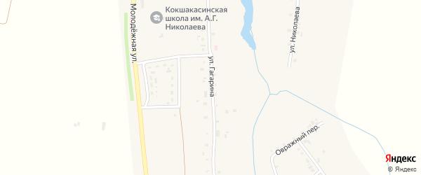 Улица Гагарина на карте деревни Мунсюта с номерами домов