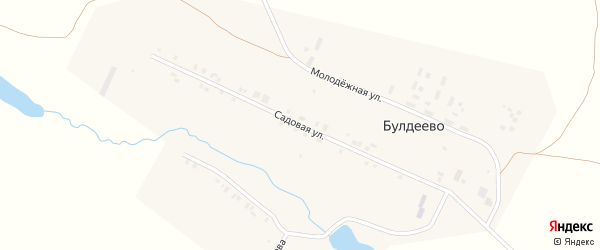 Садовая улица на карте деревни Булдеево с номерами домов