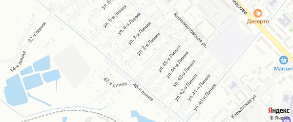 Улица Линия 31 на карте микрорайона Кемпинга с номерами домов