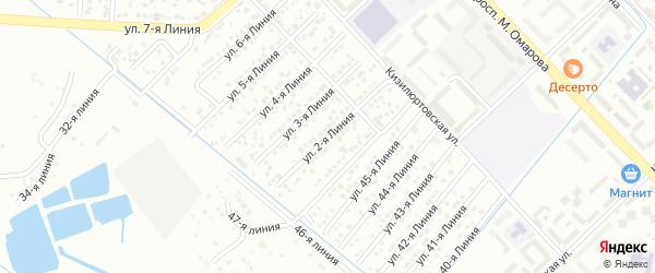 2-я линия на карте Приморского СНТ с номерами домов