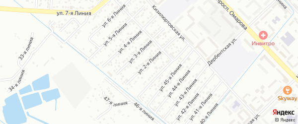 Улица Авангард СНТ Линия 2 на карте Каспийска с номерами домов