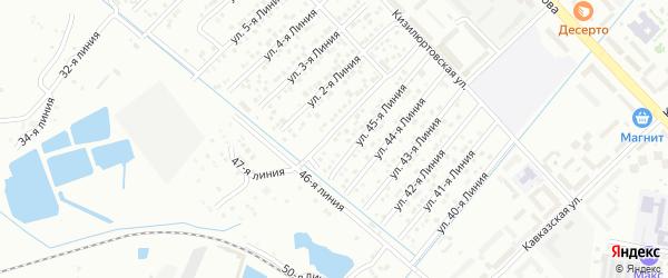 Улица Линия 16 на карте микрорайона Кемпинга с номерами домов