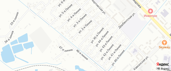 Улица Линия 29 на карте микрорайона Кемпинга с номерами домов