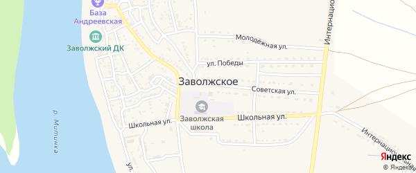Первомайская улица на карте Заволжского села с номерами домов