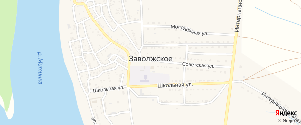 Дальний переулок на карте Заволжского села с номерами домов