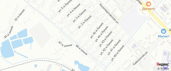 Улица Линия 14 на карте микрорайона Кемпинга с номерами домов