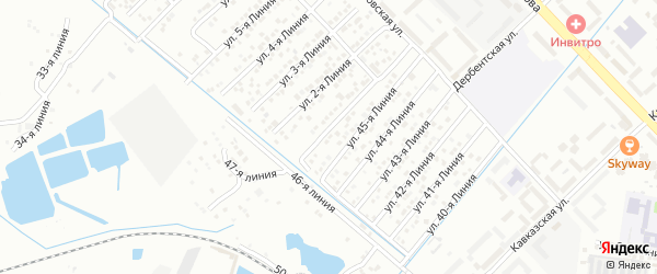 Улица Линия 4 на карте микрорайона Камнеобрабат-щий з-д и Очистные сооруж-я с номерами домов