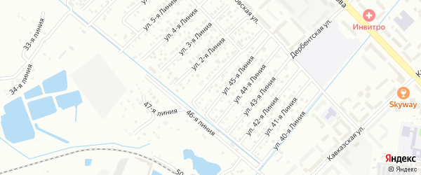 Улица Линия 15 на карте микрорайона Кемпинга с номерами домов
