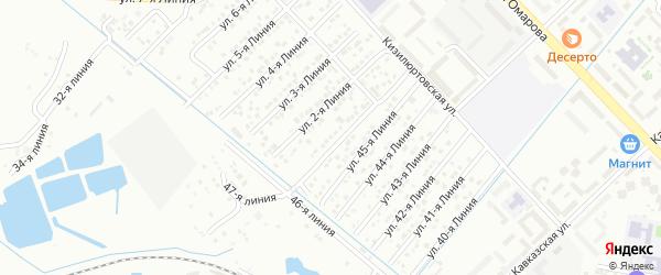Улица Линия 17 на карте микрорайона Кемпинга с номерами домов