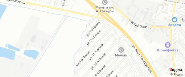 Улица Дружба СНТ Линия 2 на карте Каспийска с номерами домов