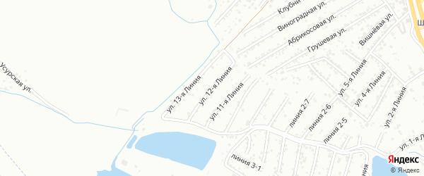 12-я линия на карте Авангарда СНТ с номерами домов
