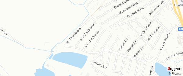 11-я линия на карте Авангарда СНТ с номерами домов