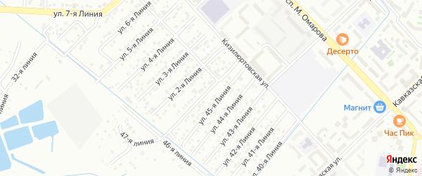 1-я линия на карте Авангарда 3 СНТ с номерами домов