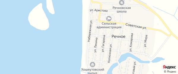 Набережная улица на карте Речного села с номерами домов