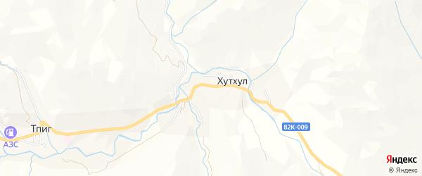 Карта села Хутхула в Дагестане с улицами и номерами домов