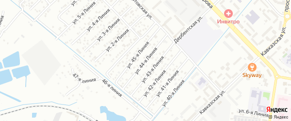 44-я линия на карте микрорайона Кемпинга с номерами домов