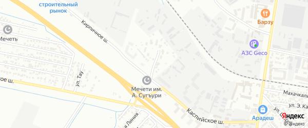 Улица Военный городок на карте Кирпичного поселка с номерами домов