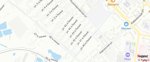 43-я линия на карте микрорайона Кемпинга с номерами домов