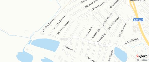 Улица Рассвет СНТ Линия 9 на карте Каспийска с номерами домов