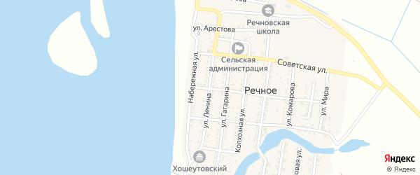 Улица Ленина на карте Речного села с номерами домов