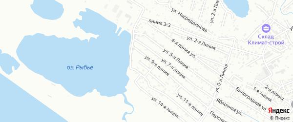 Улица Линия 10 на карте Кирпичного поселка с номерами домов