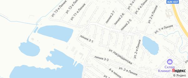 8-я линия на карте Зари 2 СНТ с номерами домов
