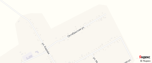 Октябрьская улица на карте деревни Большое Буяново с номерами домов