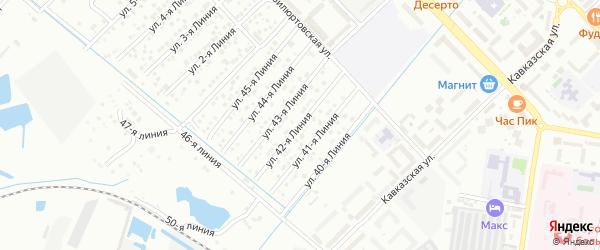 42-я линия на карте микрорайона Кемпинга с номерами домов
