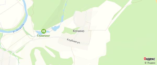 Карта деревни Кочино в Чувашии с улицами и номерами домов