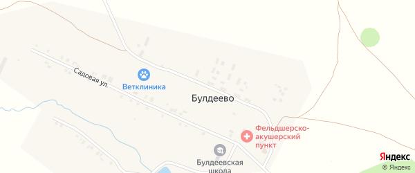 Молодежная улица на карте деревни Булдеево с номерами домов