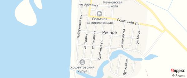 Улица Гагарина на карте Речного села с номерами домов