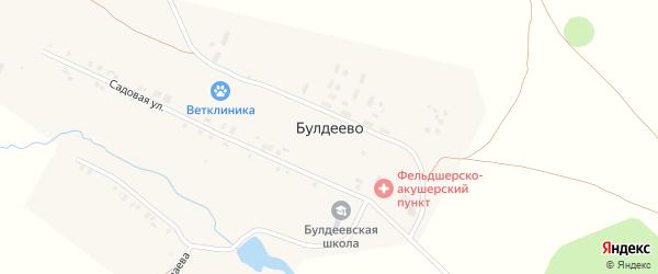Улица Николаева на карте деревни Булдеево с номерами домов