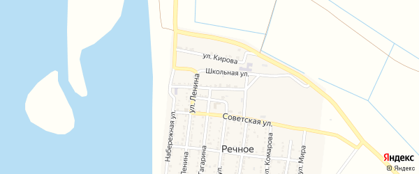 Улица Арестова на карте Речного села с номерами домов