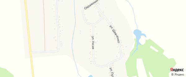 Ухсая улица на карте деревни Мунсюта с номерами домов