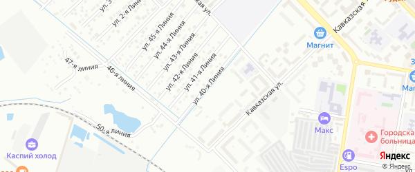 Улица Линия 25 на карте микрорайона Кемпинга с номерами домов