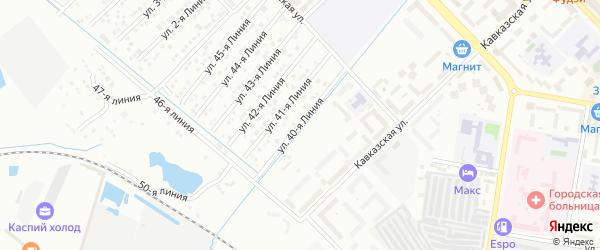 Улица Линия 12 на карте микрорайона Кемпинга с номерами домов