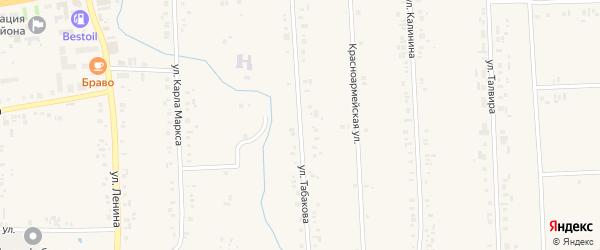 Улица А.П.Табакова на карте села Батырево с номерами домов