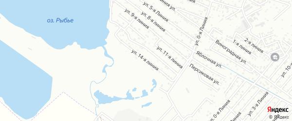 10-я линия на карте Зари 2 СНТ с номерами домов
