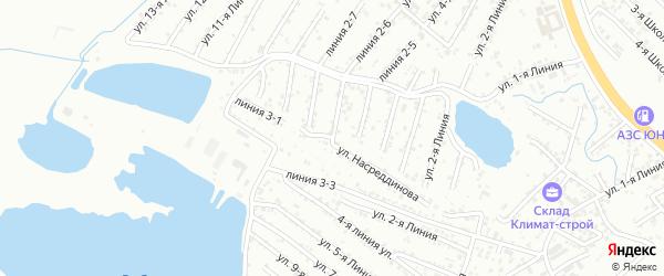 6-я линия на карте Зари 2 СНТ с номерами домов