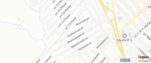 Клубничная улица на карте Дружбы СНТ с номерами домов