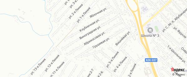 Абрикосовая улица на карте Коммунальника СНТ с номерами домов